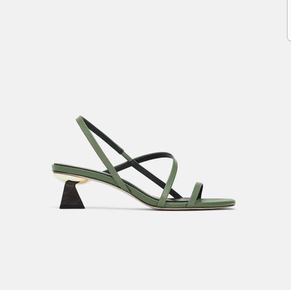 Heel Leather Shoeswood Poshmark Wcboreqxd Sandals Zara 8OPZwNX0kn